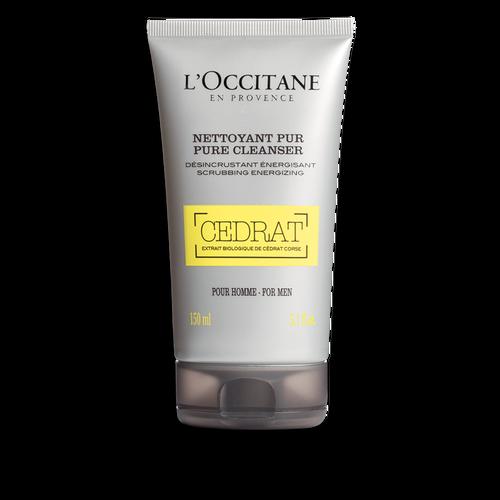 Fresh Face Wash Exfoliator For Men Cedrat Pure Cleanser L Occitane