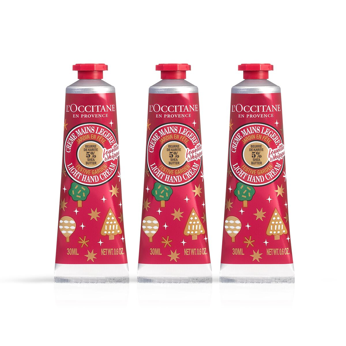 Shea Butter Festive Garden Light Hand Cream Trio