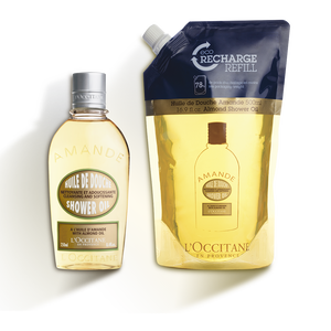 Almond Shower Oil Refill Duo, , US