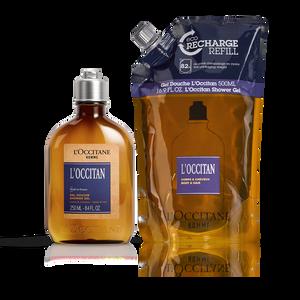 L'Occitan Shower Gel & Refill Duo, , US