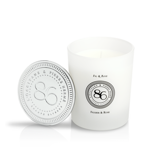 Fig & Rose Scented Candle, , large