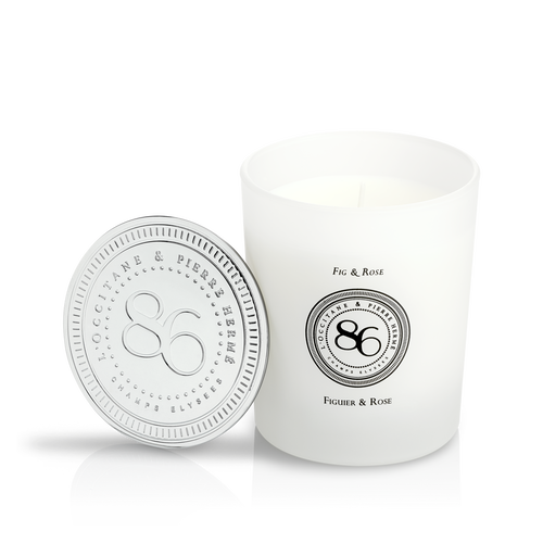 zoom view 1/2 of Fig & Rose Scented Candle