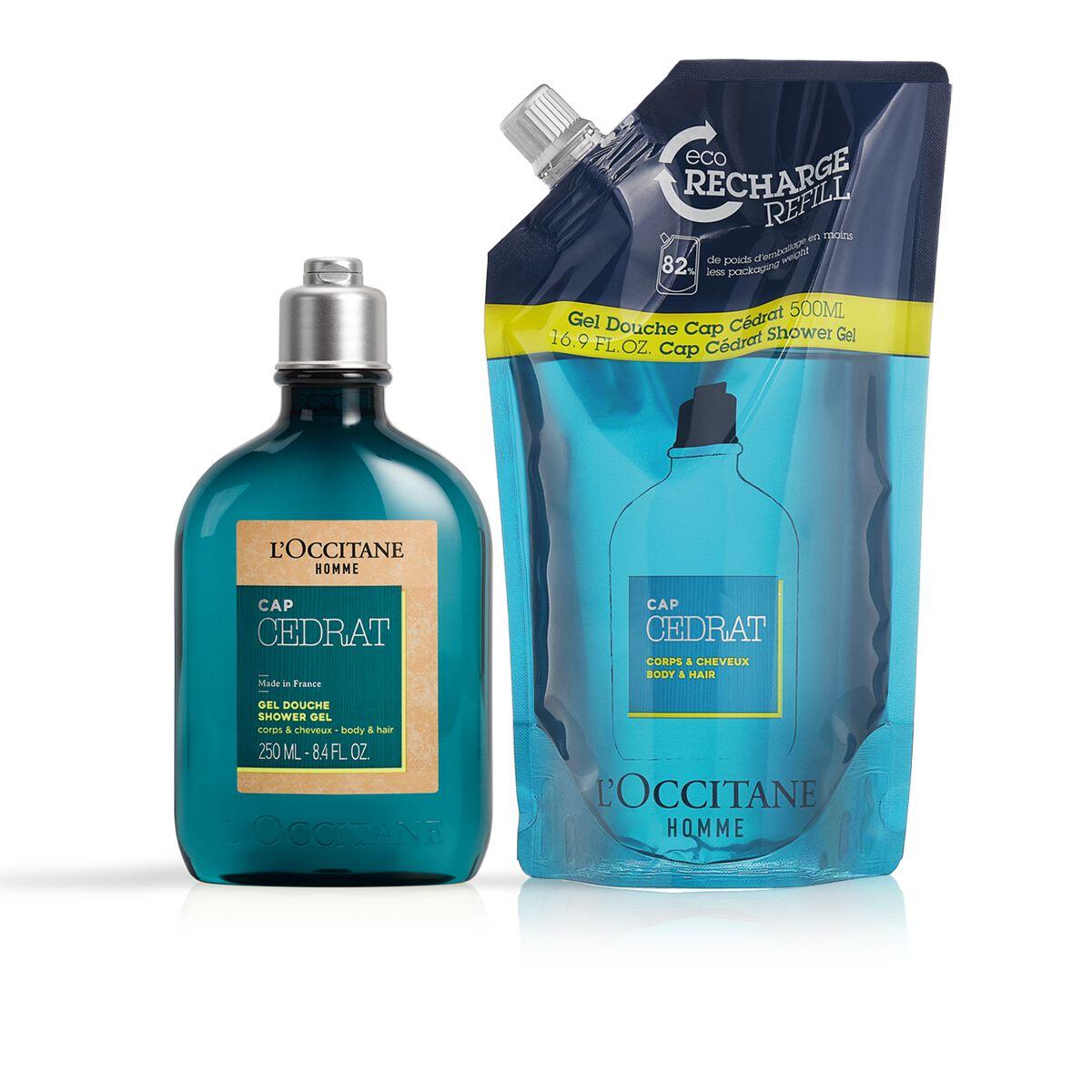 Cap Cedrat Shower Gel & Refill Duo