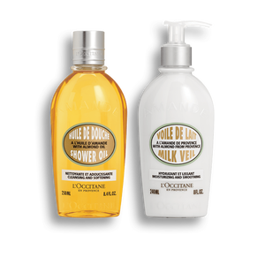 Almond Body Bath Duo, , CA