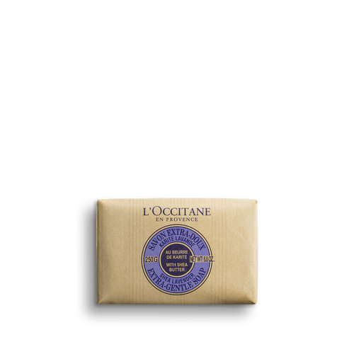 zoom view 1/2 of Shea Butter Extra Gentle Soap - Lavender