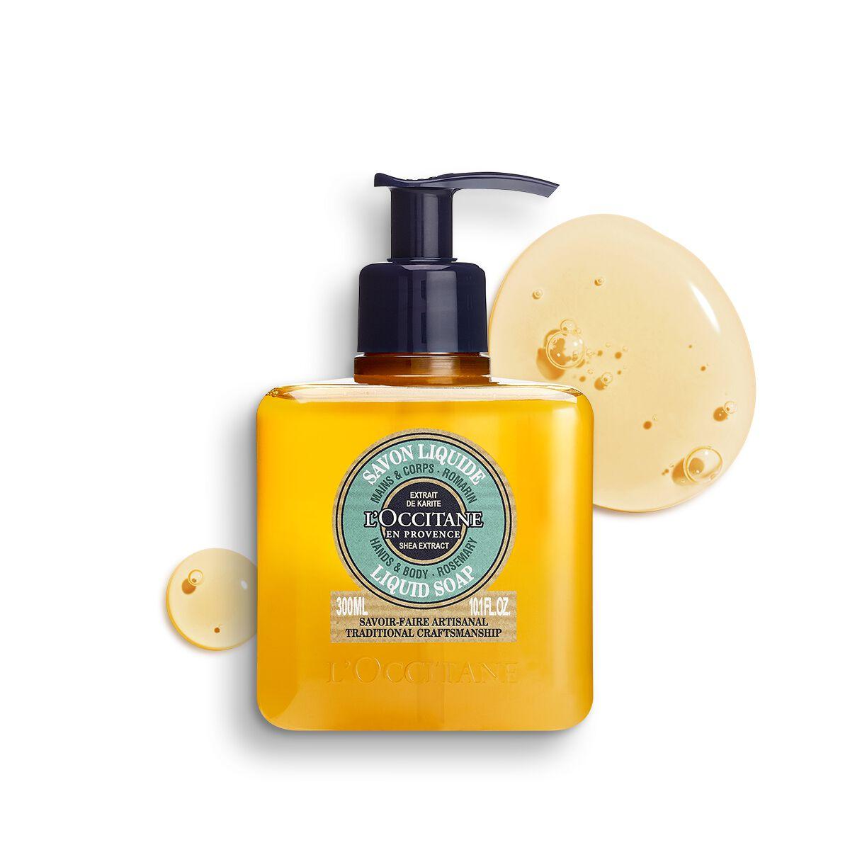 Shea Hands & Body Rosemary Liquid Soap 10.1 fl. oz.