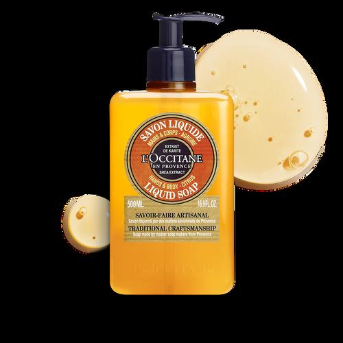 zoom view 1/2 of Shea Citrus Hands & Body Liquid Soap