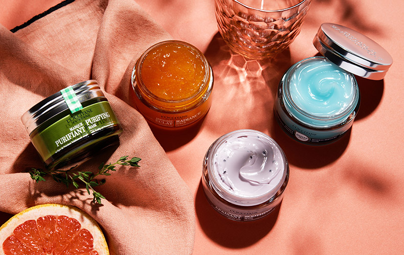 L'Occitane face masks