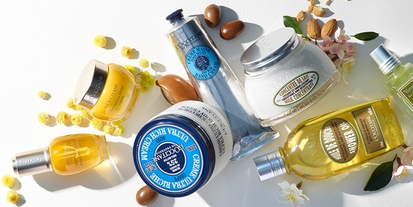 A variety of L'Occitane Products