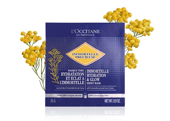 IMMORTELLE HYDRATION AND GLOW SHEET MASK