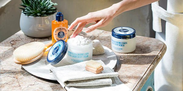 L'Occitane shower and bath products