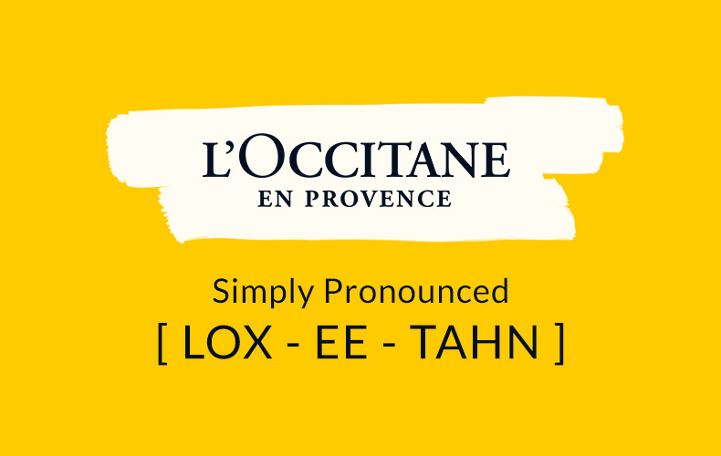 Simply Pronounced - L'OCCITANE