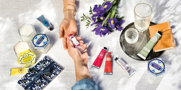 L'Occitane hand creams and candles