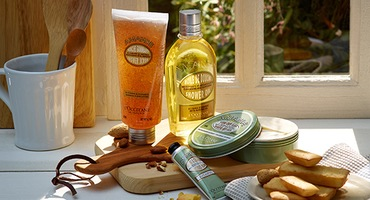 Almond body care products - L'Occitane