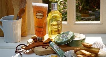 Almond body care products - L'Occitane