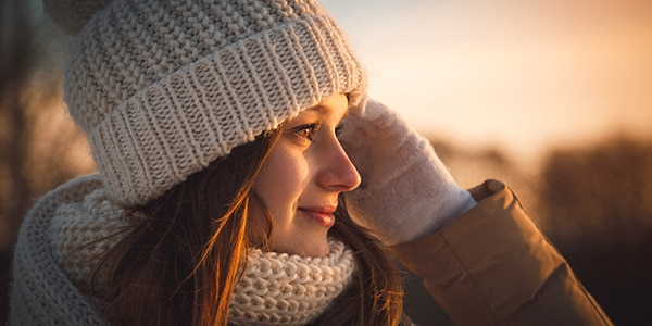 winter cold weather woman