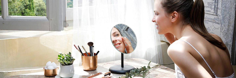 skincare and makeup application - L'Occitane